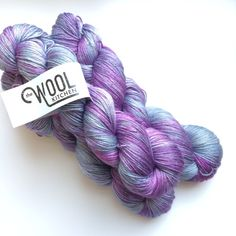 Hand dyed Merino silk yarn 4ply finger weight 100g. In