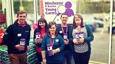 2013/14 apprenices sent packing! Here they are, raising money for Winchester Young Carers.
