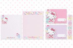 Hello Kitty Bear Letter Set