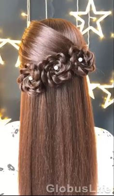 Easy Hairstyles For Long Hair, Braids For Long Hair, Down Hairstyles, Cute Hairstyles, Wedding Hairstyles, Simple Hair Updos, Simple Hairstyles For Long Hair, Ag Doll Hairstyles, Sporty Hairstyles