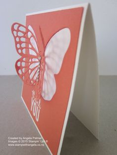 Calypso Coral Butterfly die card
