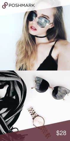 """Black Sunnies Black Sunnies sunglasses. UV protection.  * Before asking, please note whatever sizes are listed below are all I currently have in stock.   ▫️Add to Bundle"""" to add more items in my closet or """"Buy"""" to checkout here with your size.  ↓Follow me on Instagram ↓         @ love.jen.marie Jennifer's Chic Boutique Accessories Sunglasses"""