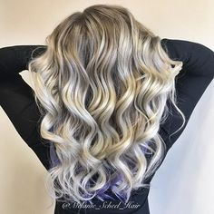 I love when @mrs_merch tells me to do my thing and add a pop of purple! A fully head of babylights with a smudged root and a little pop of fun! #highlights #purplehair #blondehair #modernsalon #behindthechair #ashblonde #cincinnati #cincinnatihair #foilayage #authentichairarmy #mermaidians #shadowroot #rootedblonde #stylistssupportingstylists #hotonbeauty #hairdressersofinsta @hairdressers.of.insta