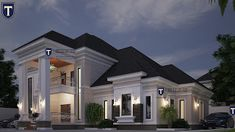 If you love spaciousness and modern living, here is a contemporary 5 bedroom plan that an established family will . Modern Bungalow House Plans, Duplex House Plans, Best Modern House Design, Classic House Design, 2bhk House Plan, Dream House Plans, House 2, 6 Bedroom House Plans, House Outside Design