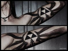 Awesome Legend of Zelda Triforce Bicep Tattoo on Global Geek News.
