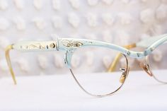 Blue Cat Eye 1950s Eyeglasses