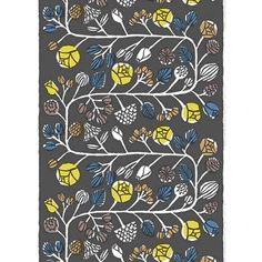 Marimekko Kranssi Grey Long Tablecloth - Click to enlarge
