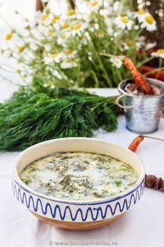 Ciorba de salata verde Top Recipes, Cooking Recipes, Healthy Recipes, Lettuce Soup, Romanian Food, Romanian Recipes, Green Soup, Healthy Options, My Favorite Food