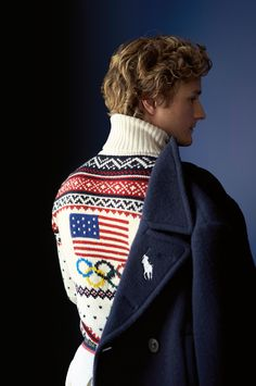 "Ralph Lauren brand ambassador Charlie White's first Olympic Memory: ""Watching Tara Lipinski, with whom we trained, become the youngest Olympic Champion."""