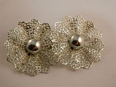 Rare Sarah Coventry Jewelry | Vintage 1970's Earrings / Sarah Coventry Earrings / Silver Flower Clip ...
