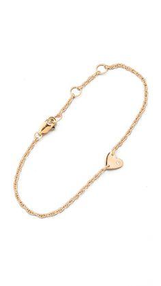 little wedding gift for Ava? Jennifer Zeuner Jewelry Extra Small Heart Bracelet