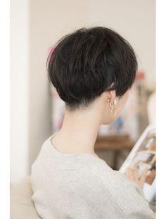 ソアヘアー(Soar hair) 《soar hair》ブラックxツーブロックxショートボブxパーマ