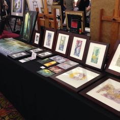 Posted by naomivandoren : My table at #IlluXCon's showcase art event. Stop by tonight or tomorrow night at the Holiday Inn in Allentown PA.