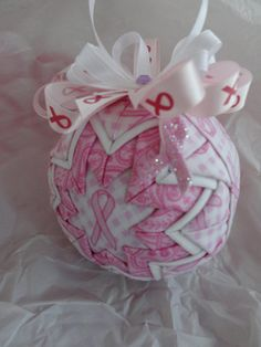 Hope Pink Ribbon Breast Cancer Quilted Christmas by ncgalcreations, $15.00