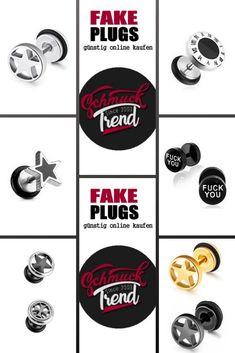 Fake Plugs aus Chirurgenstahl. Passen für ein normales Ohrloch. Fake Piercing, Piercings, Fake Plugs, Woman Quotes, Jewelry, Blog, Beautiful, Gemstone Earrings, Peircings