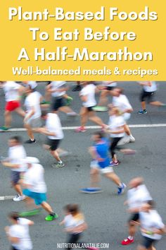 The best plant-based (vegan & vegetarian) foods to eat before a half marathon to stay fueled throughout the entire race. Foods to eat the night before and morning of the race. #plantbasedathlete #halfmarathonfueling Nutrition For Runners, Nutrition Plans, Nutrition Tips, Fitness Nutrition, Plant Based Diet, Plant Based Recipes, Athlete Meal Plan, Runners Food, Running Routine