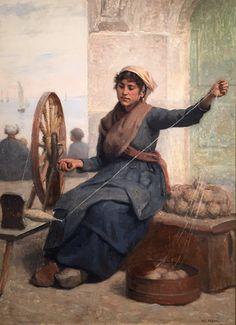 Eugene Feyen. The Breton Spinner. Grohmann Museum, Milwaukee