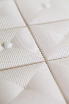 Button & Tuck tile from Pratt Larson. LOVE the texture!