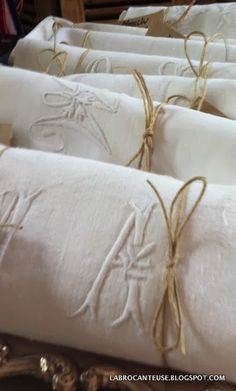 La Brocanteuse- monogrammed French linens