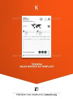 Tessera Sales Invoice A4 Template #collection #GraphicDesign #stationery #StationeryTemplates #DesignResource #PrintTemplates #graphics #print #DesignCollections #design #GraphicResource #DesignSet #Envato #set #template #StationeryShop