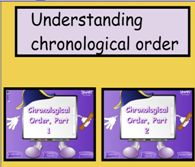 "NOTEBOOK: Understanding Chronological Order  to go with ""Our Stories"" unit"