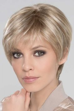 Ever Mono by Ellen Wille Wigs - Lace Front, Monofilament Top Wig Girls Short Haircuts, Haircuts For Fine Hair, Cute Hairstyles For Short Hair, Curly Hair Styles, Wedge Hairstyles, Pixie Styles, Summer Hairstyles, Pretty Hairstyles, Short Thin Hair