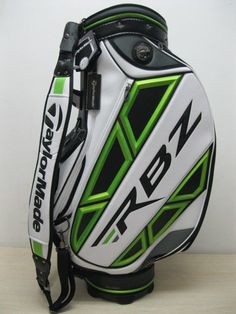 NEW TAYLORMADE RBZ STAFF GOLF BAG - WHITE/GREEN/BLACK #TaylorMade