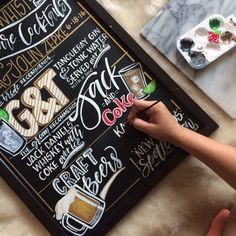 CHALKBOARD Personalized Wedding Bar Sign // Bar Sign, Signature Drink Menu