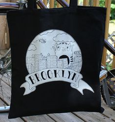 Brooklyn Kitten Tote by eyesoredesign on Etsy, $14.00