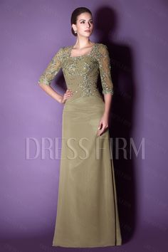 Fashionable Lace/Appliques Sheath Floor-Length Square Neckline Taline's Mother of the Bride Dress with Trends:Dressfirm.com