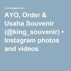 AYO, Order & Usaha Souvenir (@king_souvenir) • Instagram photos and videos