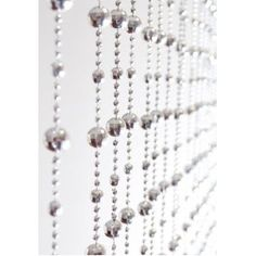 Silver Beaded Door Curtain