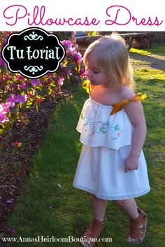 Vintage embroidered linens have a certain charm to them. So why not upcycle them to make adorable clothes for your little girl? A vintage pillowcase is just the right size for a toddler's dress. This  tutorial from Anna's Heirloom Boutique will show you an easy and unique way to sew a sweet little pillowcase dress. Find …