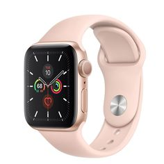 Best New Apple Watch Series 5 Wifi-only Aluminum Sport Band - Pink Sand / 40mm