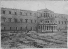 Βουλη 1918 - The Hellenic Parliament 1918.  The parliament of Greece, located in the Old Royal Palace, overlooking Syntagma Square in Athens.