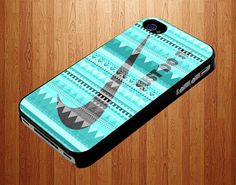 Green Nike Just Do It Mint Aztec iPhone 5 Case by DallasArtDeco, $15.80
