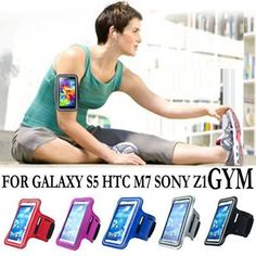 Sports Running Pouch Case for Samsung Galaxy S5 for HTC One M7 Sony Xperia Z1 L39h Waterproof Phone Bags Arm Band
