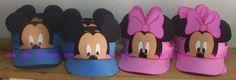 Viseras de goma eva Mickey y Minnie