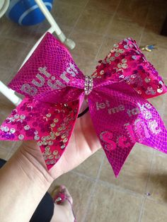 But first let me take a selfie cheer bow by BoiseBows on Etsy