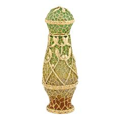 Art Nouveau Gold and Plique-a-Jour Enamel Perfume Bottle
