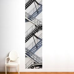 Wall decal - removable - adds so much interest and is much easier than wall paper.