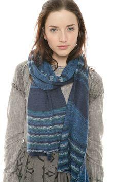 GiBlack — Indigo Knit Striped Scarf