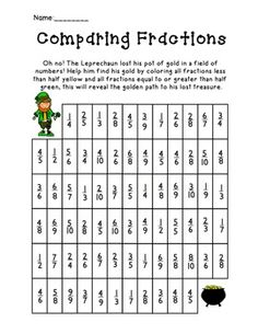 math worksheet : 1000 images about st pat s on pinterest  color activities st  : Fractions Greater Than One Worksheets