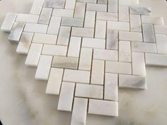 Calacatta Herringbone Mosaic