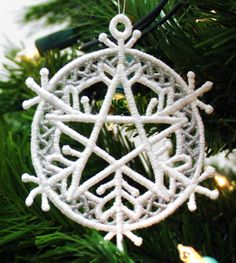 Five Elements Snowflake Ornament (Lace) | Urban Threads: Unique and Awesome Embroidery Designs