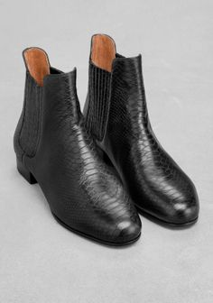 & Other Stories   Stretch Panel Leather Boots