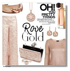 """""""So Pretty: Rose Gold Jewelry"""" by heather-reaves ❤ liked on Polyvore featuring Osman, Topshop, Frances Valentine, Miss Selfridge, Thomas Sabo, Guerlain, Gioelli and rosegold"""