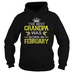 Awesome Tee The Best Grandpa Was Born In February T-Shirt T-Shirts