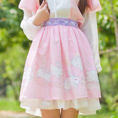 "Sweet cute kawaii bunny skirt use code: ""puririnhime"" to get 10% OFF everytime you shop at www.sanrense.com"