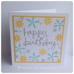 Stampin Up Flower Patch, Watercolor Words